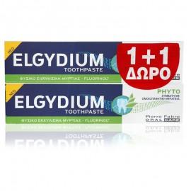 ELGYDIUM  Phyto Toothpaste Οδοντόκρεμα Με Φυσικό Εκχύλισμα Μυρτιάς (1+1 Δώρο) 75ml