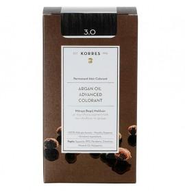 KORRES Βαφή Argan Oil 3.0 Καστανό Σκούρο Φυσικό - 50ml