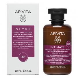 APIVITA Intimate Lady, Απαλό Υγρό Καθαρισμού Ευαίσθητης Περιοχής για Προστασία απο την Ξηρότητα - 200ml