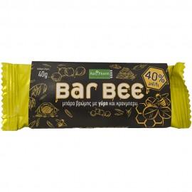 APIPHARM - Bar Bee Μπάρα Βρώμης Με Γύρη Και Κράνμπερυ 40gr