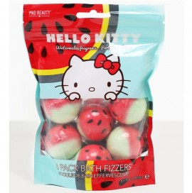 MAD BEAUTY Hello Kitty 6 Pack Bath Fizzers, Άλατα Μπάνιου - 6x30gr