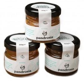 PANDROSIA Τριπλή Συσκευασία, Βερίκοκο 35gr, Σύκο 35gr , Σάλτσα ντομάτας 30gr