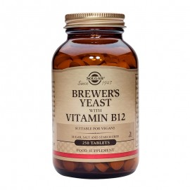 SOLGAR Brewer's Yeast with Vitamin B12- 250tabs
