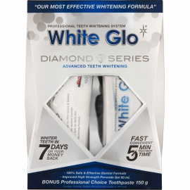 WHITE GLO Diamond Series Professional & Λευκαντικό Gel & Μασελάκι