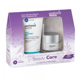 PANTHENOL Extra Beauty Care, Αντιγήρανση & Καθαρισμός, Face & Eye Cream- 50ml & Face Cleansing Gel - 150ml
