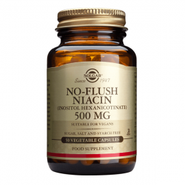 SOLGAR No Flush Niacin 500mg - 50caps