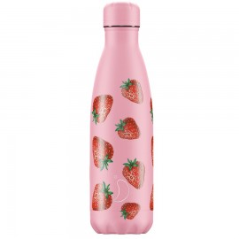 CHILLY'S BOTTLES Μπουκάλι- Θερμός, Strawberry - 500ml
