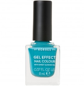 KORRES Gel Effect Nail Colour, 82 Pool Waves, Με Αμυγδαλέλαιο - 11ml