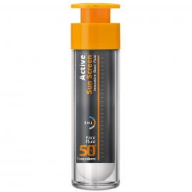 FREZYDERM Active Sun Screen Face Fluid SPF50, Αντηλιακή Λεπτόρευστη Κρέμα Προσώπου - 50ml