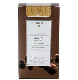 KORRES Βαφή Argan Oil 8.7 Ξανθό της Καραμέλας - 50ml
