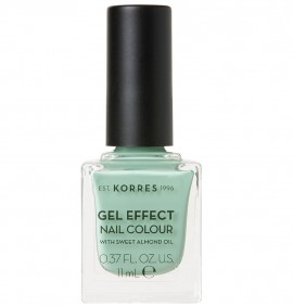 KORRES Gel Effect Nail Colour, 35 Mint Green, Με Αμυγδαλέλαιο - 11ml