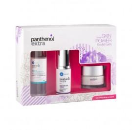 PANTHENOL Extra Σετ Skin Power Ενυδάτωση,  Face & Eye Serum - 30ml & Micellar True Cleanser - 100ml & Day Cream SPF15- 50ml