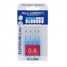ELGYDIUM Clinic MonoCompact 0.4 Μπλε Μεσοδόντια Βουρτσάκια - 4τμχ
