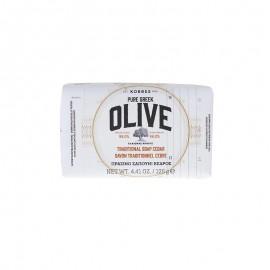 KORRES Pure Greek Olive Παραδοσιακό Πράσινο Σαπούνι με Άρωμα Κέδρου 125gr