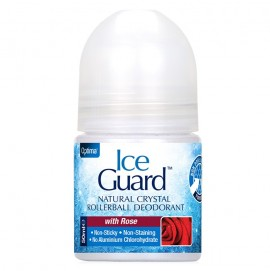 OPTIMA Ice Guard Natural Crystal Rollerball Deodorant, Rose - 50ml