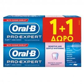 ORAL-B Pro Expert Sensitive & Whitening,Οδοντόκρεμα Για Ευαίσθητα Δόντια Και Λευκαντική, 2 X 75ml