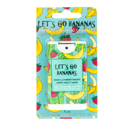 MAD BEAUTY Let's Go Bananas, Απολυμαντικό-Ενυδατικό Σπρέι Χεριών, Μπανάνα-Φράουλα - 15ml