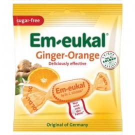 EM-EUKAL Καραμέλες Πορτοκάλι Ginger Χωρίς Ζάχαρη 50gr 12τμχ