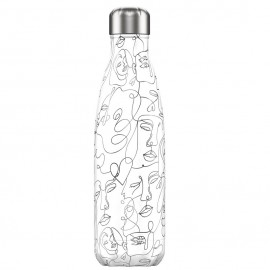 CHILLY'S BOTTLES Μπουκάλι- Θερμός Faces Line Art Edition - 500ml