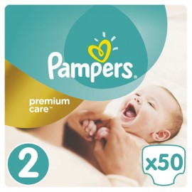 PAMPERS Premium Care No 2 (3-6 Κg) 50τμχ