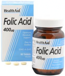 HEALTH AID Folic Acid 400μg - 90tabs