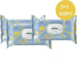 KLORANE Bebe Gentle Cleansing Wipes 3 x 70τμχ (2+1 Δώρο)