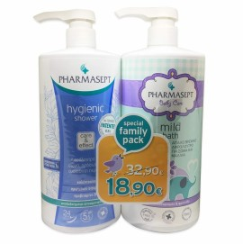 PHARMASEPT Family Pack, Baby Mild Bath 1lt & Hygienic Shower 1lt