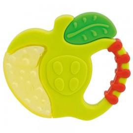 CHICCO Fresh Relax Mήλο Λαχανί Χρώμα 4m+ Κρίκος Οδοντοφυίας Με Τζελ