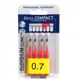 ELGYDIUM Clinic MonoCompact 0.7 Κόκκινο Μεσοδόντια Βουρτσάκια 4τμχ
