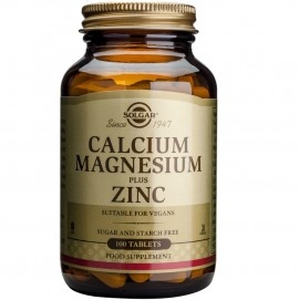 SOLGAR Calcium Magnesium Plus Zinc - 100tabs