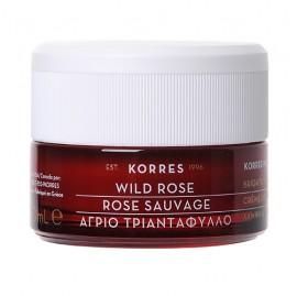 KORRES Wild Rose, Άγριο Τριαντάφυλλο Λάμψη & Πρώτες Ρυτίδες, Κρέμα Ημέρας, Καν/ Μικτό Δέρμα - 40ml