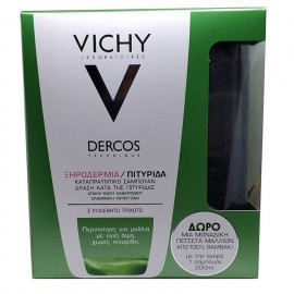 VICHY Dercos Αντιπιτυριδικό Σαμπουάν για Ευαίσθητο Τριχωτό - 200ml + Δώρο Πετσέτα
