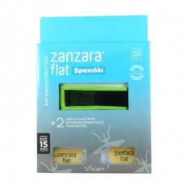 VICAN Zanzara Flat Εντομοαπωθητικό Βραχιόλι με δύο Ταμπλέτες - S/M