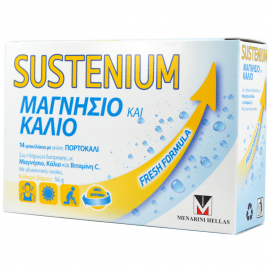 MENARINI Sustenium Μαγνήσιο & Κάλιο με γεύση Πορτοκάλι 14 φακελάκια