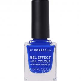 KORRES Gel Effect Nail Colour No.86 Ocean Blue Βερνίκι Νυχιών 11ml