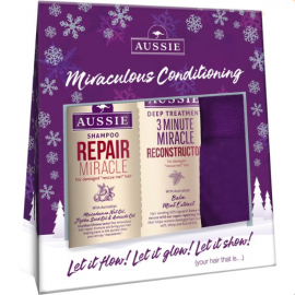 AUSSIE Set Shampoo Repair Miracle 300ml + Aussie 3 Minute Miracle Reconstructor 250ml + Δώρο 1 Ζευγάρι Κάλτσες