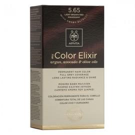 APIVITA My Color Elixir, Βαφή Μαλλιών No 5.65 - Καστανό Ανοιχτό Κόκκινο Μαονί