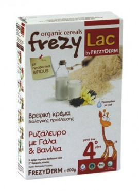FREZYLAC Κρέμα Ρυζάλευρο Γάλα Βανίλια 200gr