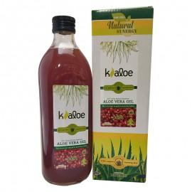 KALOE Gel Αλόης Φυσικός Χυμός Βιολογικής Αλόης με Ρόδι - 1Lt