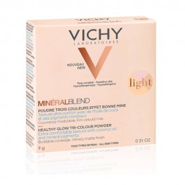 VICHY MineralBlend Healthy Glow Tri-Color Powder, Τρίχρωμη Πούδρα Light -9gr