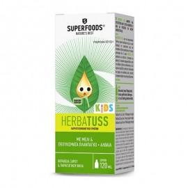 SUPERFOODS Herbatuss Kids Φυτικό Σιρόπι για τη Θεραπεία του Ξηρού & Παραγωγικού Βήχα, 120ml