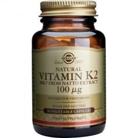 SOLGAR Vitamin K2 100mg - 50veg. caps