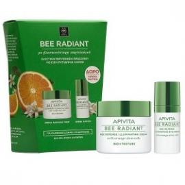 APIVITA Bee Radiant Set Κρέμα Αντιγήρανσης Πλούσια Υφής 50ml & ΔΩΡΟ Κρέμα Ματιών Αντιγήρανσης και Λάμψης 15ml