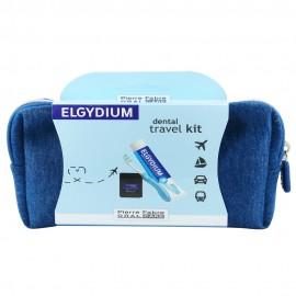 ELGYDIUM Dental Travel Kit Μπλε Νεσεσέρ με 3 τμχ.