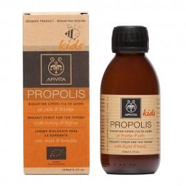 APIVITA Παιδικό Βιολογικό Σιρόπι Για Τον Λαιμό Με Μέλι & Θυμάρι 150ml