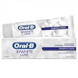 ORAL B 3D White Luxe Perfection Λευκαντική Οδοντόκρεμα Απαλή με το Σμάλτο 75ml