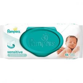 PAMPERS Baby Wipes Sensitive Μωρομάντηλα 56τμχ