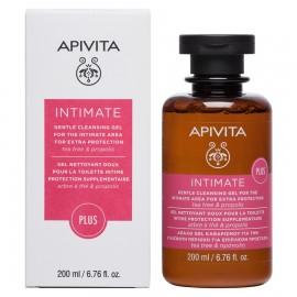 APIVITA Intimate Plus, Απαλό Gel Καθαρισμού Ευαίσθητης Περιοχής με επιπλέον Προστασία - 200ml