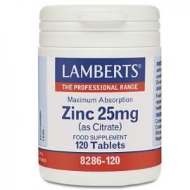 LAMBERTS Zinc 25mg(as Citrate) 120tabs