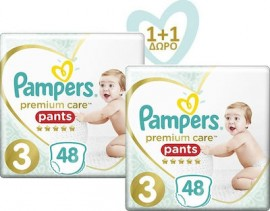 PAMPERS Premium Care Pants No 3 (6-11kg) - 48τμχ, 1+1 Δώρο